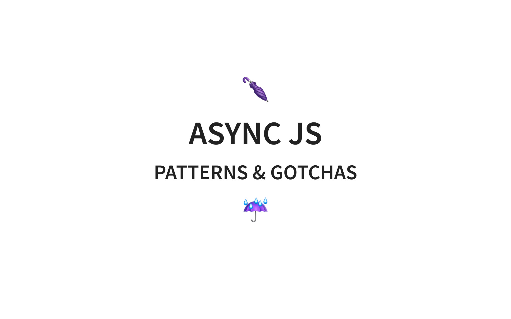 Async JavaScript: history, patterns and gotchas · Code with Hugo
